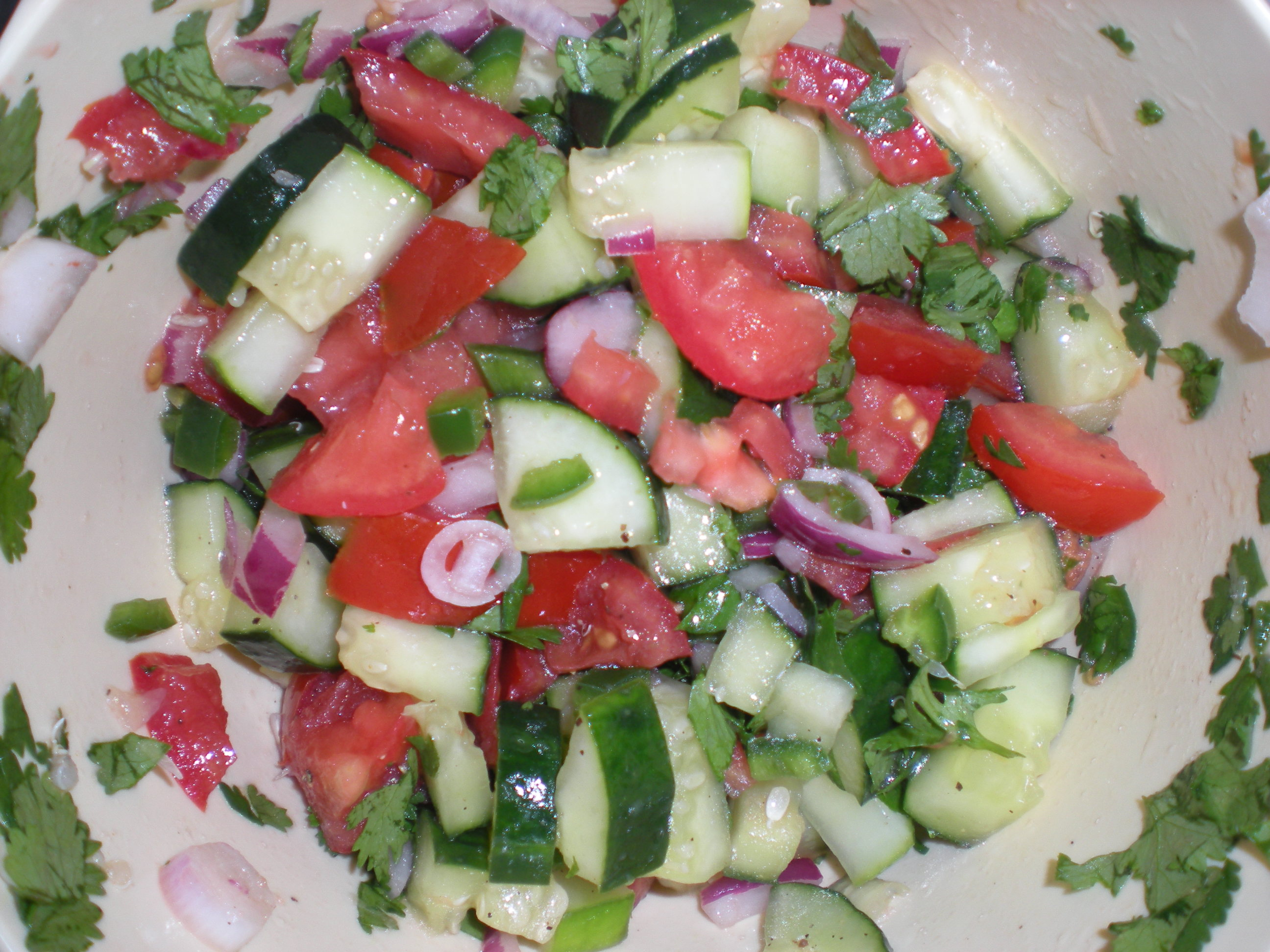 Spicy Cucumber and Tomato Salad & Gazpacho | A Girl's Gotta Eat