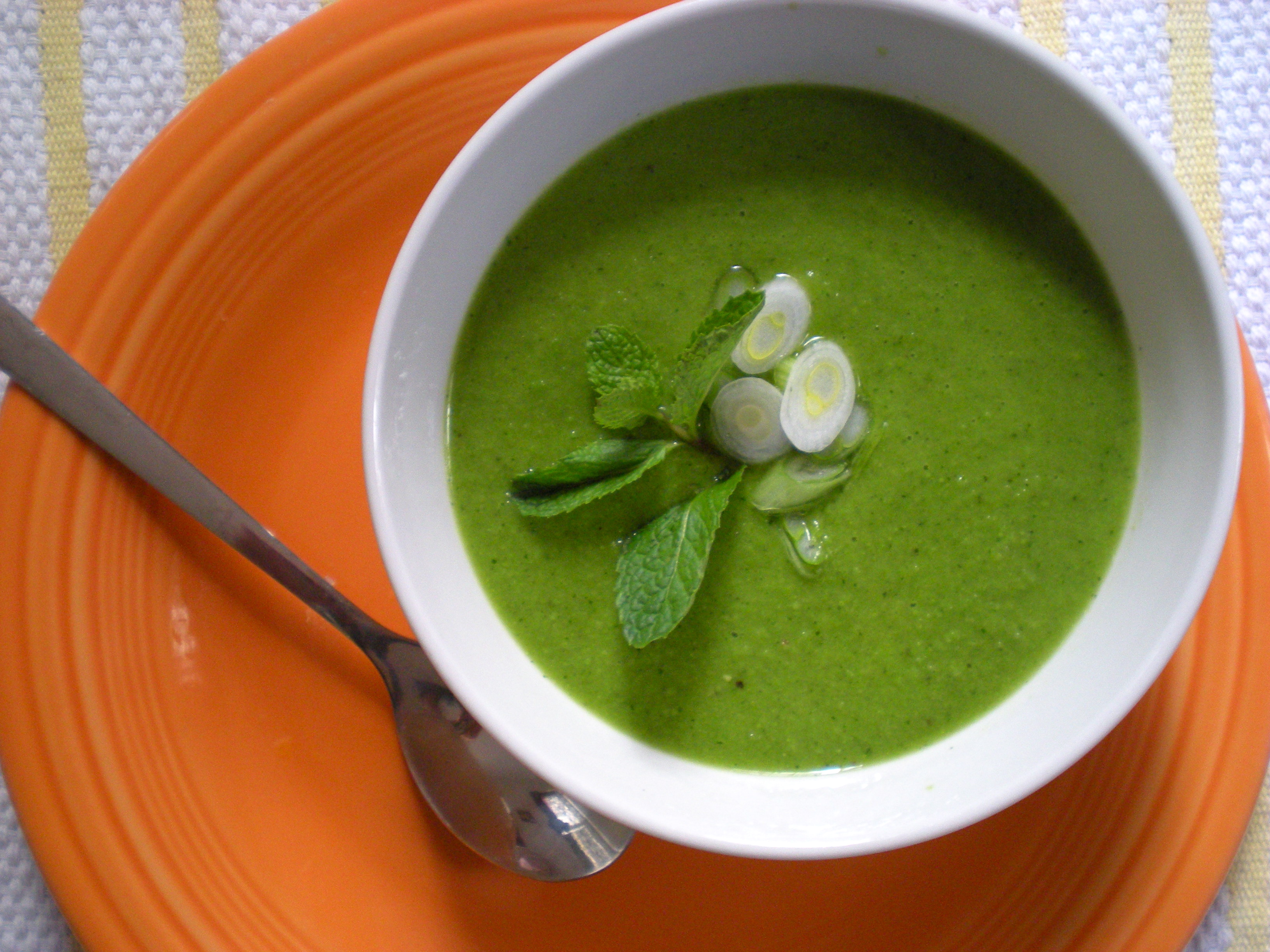 Fresh Pea Soup with Mint | A Girl's Gotta Eat